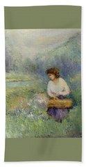 Wildflowers Bath Towel by Gail Kirtz
