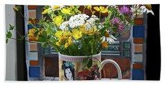 Wildflowers In Coffee Mug Bath Towel