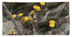 Wildflowers In Rocks Bath Towel