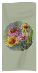 Hand Towel featuring the painting Wildflowers by Mary Wolf