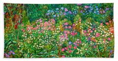 Bath Towel featuring the painting Wildflowers Near Fancy Gap by Kendall Kessler