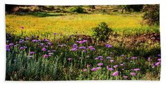 Wildflowers Of The Wichita Mountains Bath Towel by Tamyra Ayles