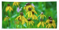Bath Towel featuring the photograph Wildflowers Of Yellow by Bill Pevlor