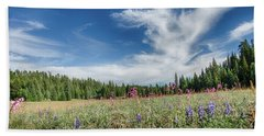 Wildflowers Reach For The Sky Bath Towel