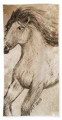 Wildheart Bath Towel by Maria Urso