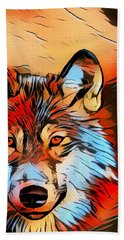 Wildlife Wolf 1 Hand Towel