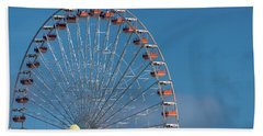 Bath Towel featuring the photograph Wildwood Ferris Wheel by Jennifer Ancker