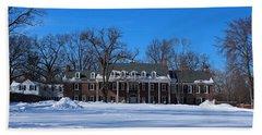 Wildwood Manor House In The Winter Hand Towel