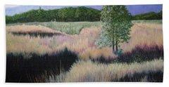 Hand Towel featuring the painting Willamette Evening Shadows by Lynn Quinn