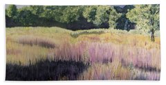 Hand Towel featuring the painting Willamette Meadow by Lynn Quinn