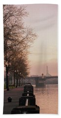 Willamette Riverfront, Portland, Oregon Hand Towel