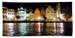 Hand Towel featuring the photograph Willemstad, Island Of Curacoa by Kurt Van Wagner