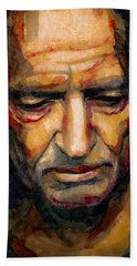 Willie Nelson Portrait 2 Bath Towel by Laur Iduc