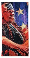 Willie Nelson Hand Towel