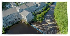 Willimantic River And Mill #2 Bath Towel