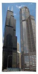Willis Tower Aka Sears Tower And 311 South Wacker Drive Hand Towel by Adam Romanowicz