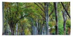 Willow Oak Trees Bath Towel