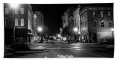 Wilmington Bike Lane In Black And White Bath Towel