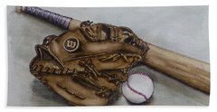 Wilson Baseball Glove And Bat Bath Towel