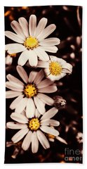 Wilting And Blooming Floral Daisies Bath Towel