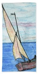Wind In The Sails Hand Towel by R Kyllo