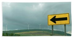 Wind Power. Direction Of Energy. Hand Towel
