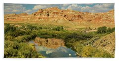 Bath Towel featuring the photograph Wind River by James BO Insogna
