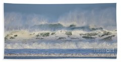 Hand Towel featuring the photograph Wind Swept Waves by Nicholas Burningham
