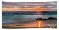 Windansea Beach At Sunset Hand Towel