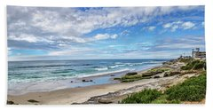 Bath Towel featuring the photograph Windansea Wonderful by Peter Tellone