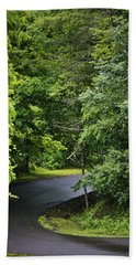 Winding Road Bluestone State Park West Virginia Bath Towel
