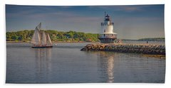 Windjammer At Spring Point Ledge Lighthouse Hand Towel