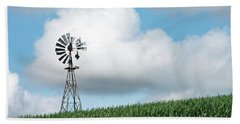 Windmill And Bird Bath Towel
