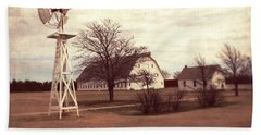 Hand Towel featuring the photograph Windmill At Cooper Barn by Julie Hamilton