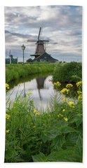 Windmill At Zaanse Schans Hand Towel