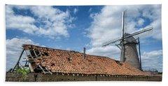 Windmill In Belgium Bath Towel