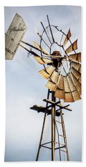 Windmill In The Sky Bath Towel