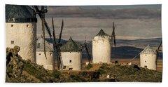 Bath Towel featuring the photograph Windmills Of La Mancha by Heiko Koehrer-Wagner