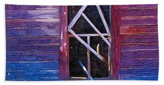 Bath Towel featuring the photograph Window-1 by Susan Kinney