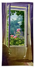 Window At Clermont Hand Towel