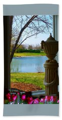 Window View Pond Hand Towel