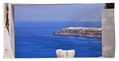 Window View To The Mediterranean Hand Towel