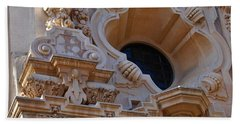 Bath Towel featuring the photograph Window  Zoom In Balboa Park San Diego by Jasna Gopic