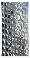 Hand Towel featuring the photograph Windows Of 2 World Financial Center 2 by Sarah Loft
