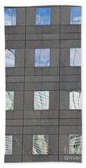 Hand Towel featuring the photograph Windows Of 2 World Financial Center   by Sarah Loft