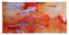 Hand Towel featuring the painting Winds Of Change by M Diane Bonaparte