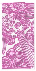 Hand Towel featuring the drawing Winds Tess by Edward Fielding