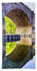 Windsor Rail Bridge Hand Towel by Tom Cameron