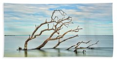 Windswept Branches On Sandy Hook Bay Bath Towel