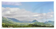 Bath Towel featuring the photograph Windward Panorama 1 by Leigh Anne Meeks